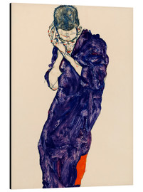 Print på aluminium  Young Man In Purple Robe - Egon Schiele