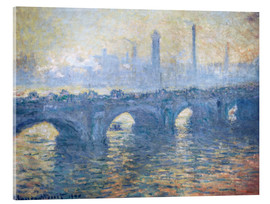 Akrylbillede  River Thames in London, Waterloo Bridge - Claude Monet