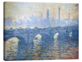 Lærredsbillede  River Thames in London, Waterloo Bridge - Claude Monet
