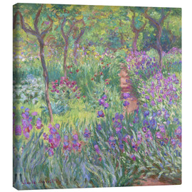 Lærredsbillede  The Iris Garden At Giverny - Claude Monet