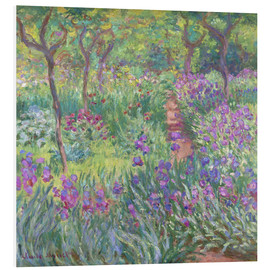 Print på skumplade  The Iris Garden At Giverny - Claude Monet