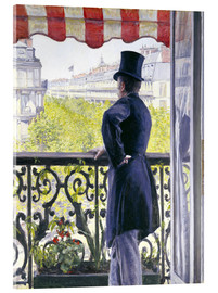 Akrylbillede  Man on a balcony - Gustave Caillebotte