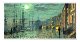 Premium-plakat  City Docks by Moonlight - John Atkinson Grimshaw