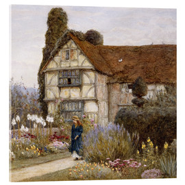 Akrylbillede  Old Manor House - Helen Allingham