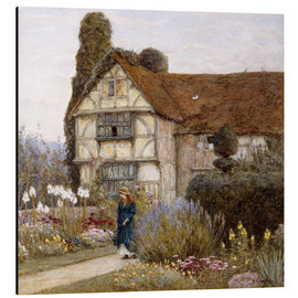 Print på aluminium  Old Manor House - Helen Allingham