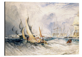 Print på aluminium  Gosport: The Entrance to Portsmouth Harbour - Joseph Mallord William Turner