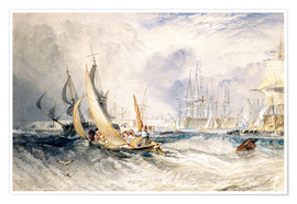 Premium-plakat  Gosport: The Entrance to Portsmouth Harbour - Joseph Mallord William Turner