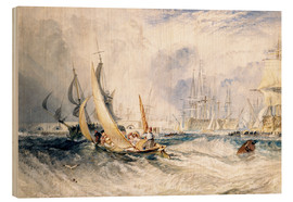 Print på træ  Gosport: The Entrance to Portsmouth Harbour - Joseph Mallord William Turner
