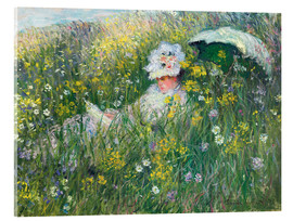 Akrylbillede  In the Meadow - Claude Monet