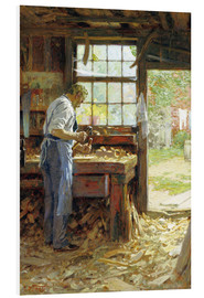 Print på skumplade  Village Carpenter - Edward Henry Potthast