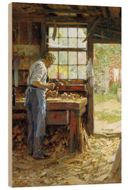 Print på træ  Village Carpenter - Edward Henry Potthast