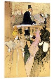 Akrylbillede  At the Opera Ball - Henri de Toulouse-Lautrec