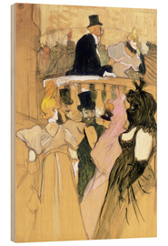 Print på træ  At the Opera Ball - Henri de Toulouse-Lautrec
