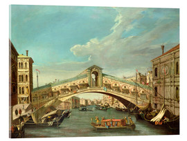 Akrylbillede  Grand Canal and the Rialto Bridge - Antonio Canaletto
