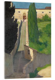 Akrylbillede  The Steps of the Convent of San Marco, Perugia, 1913 - Felix Edouard Vallotton