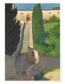 Premium-plakat  The Steps of the Convent of San Marco, Perugia, 1913 - Felix Edouard Vallotton