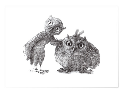 Premium-plakat Two Owls - Stan & Oliver