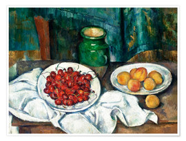Premium-plakat  Cherries and peaches - Paul Cézanne