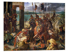 Print på skumplade  The conquest of Constantinople by the crusaders - Eugene Delacroix