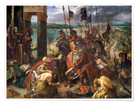 Premium-plakat  The conquest of Constantinople by the crusaders - Eugene Delacroix