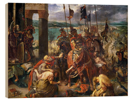 Print på træ  The conquest of Constantinople by the crusaders - Eugene Delacroix