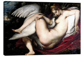 Lærredsbillede  Leda and the Swan - Peter Paul Rubens