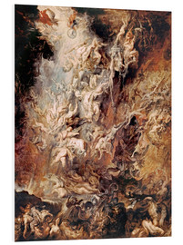 Print på skumplade  The Fall of the Damned - Peter Paul Rubens