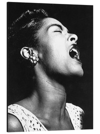 Print på aluminium  Billie Holiday
