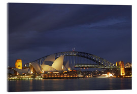 Akrylbillede  Sydney Opera and Harbor Bridge - David Wall