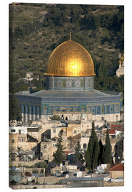Lærredsbillede  Jerusalem and the Dome of the Rock - David Noyes