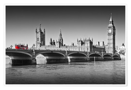 Premium-plakat  Westminster Bridge and Bus - Melanie Viola