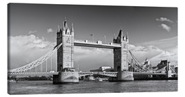 Lærredsbillede  Tower Bridge black and white - Melanie Viola