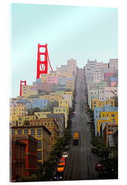 Akrylbillede  San Francisco and Golden Gate Bridgee - John Morris