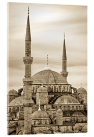 Akrylbillede  the blue mosque in sepia (Istanbul - Turkey) - gn fotografie