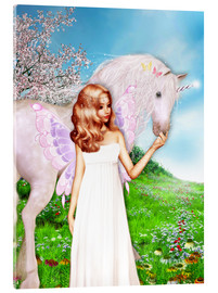 Akrylbillede  Angel and Unicorn - Dolphins DreamDesign