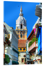 Akrylbillede  Church in Cartagena, Colombia - HADYPHOTO