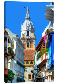 Lærredsbillede  Church in Cartagena, Colombia - HADYPHOTO