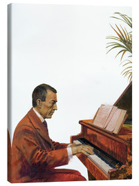 Lærredsbillede  Rachmaninoff playing the piano - Andrew Howat