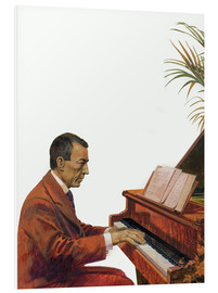 Print på skumplade  Rachmaninoff playing the piano - Andrew Howat