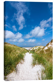 Lærredsbillede  Path to the beach - Reiner Würz