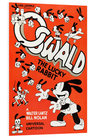 Print på skumplade  Oswald the Lucky Rabbit