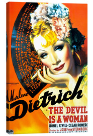 Lærredsbillede  THE DEVIL IS A WOMAN, Marlene Dietrich, 1935 Poster Art