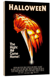 Print på træ  Halloween - The night he came home