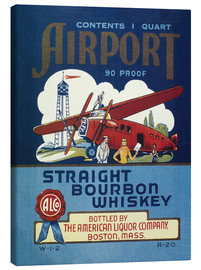 Lærredsbillede  Airport Whiskey Label