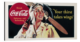 Print på aluminium  Coca-Cola, your thirst takes wings
