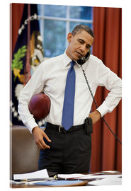 Akrylbillede  President Barack Obama talks on the phone