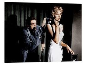 Akrylbillede  Dial M for Murder, from left: Anthony Dawson, Grace Kelly in 1954