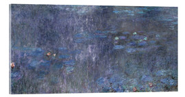 Akrylbillede  Water Lilies, Reflection of trees 2 - Claude Monet