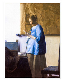 Premium-plakat Woman Reading a Letter