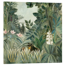 Akrylbillede  The Equatorial Jungle - Henri Rousseau